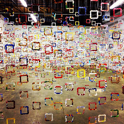 1,894 empty frames, each represents 1,000 empty stomachs in Texas in 2012. Yes, that's 1,894,000 hungry children.